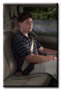 teen passenger with seatbelt